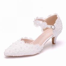 Eleganckie Białe Perła Z Ko...