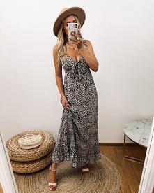 Cudna sukienka na wiosenne i letnie dni, kiedy potrzebujemy powiewu lekkości w swoim looku. Fason maxi idealnie sprawdzi się na wszelkiego rodzaju wyjścia z domu, a śliczny pant...