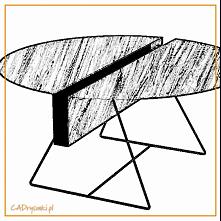 Stół wykonany ze stali i ok...