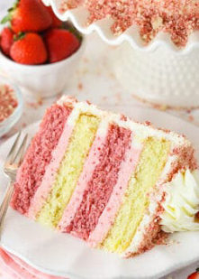 Strawberry Crunchy Layer Cake
