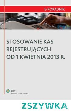 Stosowanie kas rejestrujących od 1 kwietnia 2013 r. - Łukasz MatusiakiewiczOd 1 kwietnia 2013 r. zmieniają się przepisy dotyczące stosowania kas rejestrujących. Nowe regulacje uwzględniają, poza dotychczas obowiązującymi przepisami, zagadnienia dotychczas nieuregulowane w przepisach, ale często spotykane w praktyce. dotyczą one m. n. treści paragonów, ewidencji zwrotów i reklamacji, przekazania kasy innemu podmiotowi, czy ewidencji zaliczek. Jeśli masz obowiązek prowadzenia obrotu za pomocą kasy rejestrującej i nie chcesz narazić się na sankcje karnoskarbowe zapoznaj się z publikacją 'Stosowanie kas rejestrujących od 1 kwietnia 2013 r. .          Z publikacji dowiesz się:    co się zmienia w treści paragonu,  jak długo trzeba przechowywać paragony,  co powinna zawierać ewidencja zwrotów i reklamacji,  czy z kasy rejestrującej będzie można wystawiać faktury uproszczone,  czy nadal można stosować posiadane kasy rejestrujące,  jakie przepisy przejściowe przewiduje rozporządzenie.          Adresaci:  Adresatami publikacji są przede wszystkim osoby zatrudnione w księgowości i finansach, właściciele biur rachunkowych i doradcy podatkowi oraz osoby prowadzące własną działalność gospodarczą.
