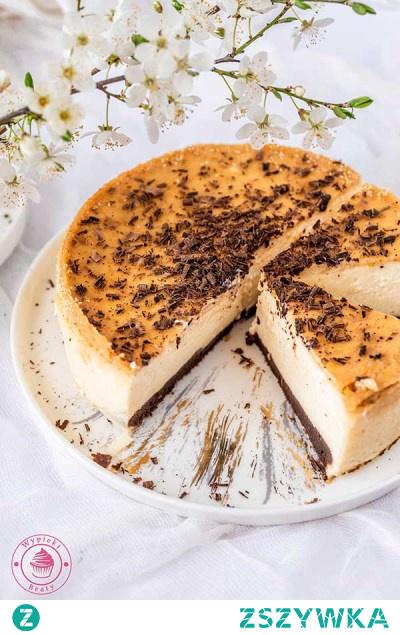 Pomarańczowy sernik na czekoladowym spodzie | Przepisy | Wypieki Beaty
