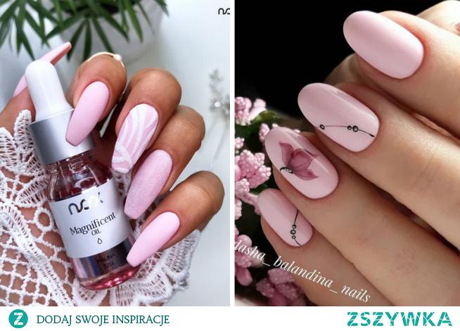 Wiosna to idealny moment na manicure w odcieniach pudrowego różu, zwłaszcza w towarzystwie subtelnych wzorków!
