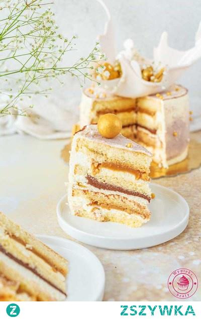 Tort z kajmakiem i czekoladą | Przepisy | Wypieki Beaty