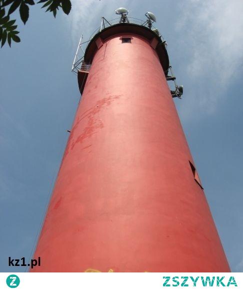 Jedyna latarnia na Mierzei Wiślanej - latarnia w Krynicy Morskiej.