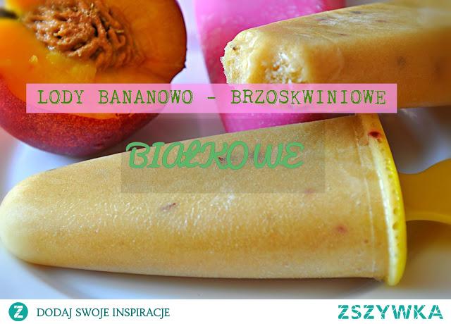 Lody Brzoskiwniowo Bananowe z Odżywką białkową :)