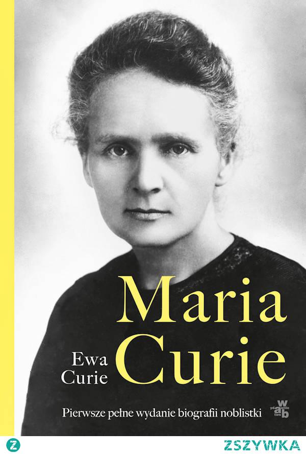 Pierwsze wydanie biografii dwukrotnej laureatki Nagrody Nobla Marii Skłodowskiej-Curie miało miejsce w 1937 roku, trzy lata po śmierci wielkiej uczonej. Autorką biografii była młodsza córka Ewa Curie. W latach późniejszych publikacja była wielokrotnie wznawiana, a w roku 1943 r. została zekranizowana. Obecne, XXI wydanie biografii Marii Skłodowskiej-Curie jest wyjątkowe. Wyjątkowe z tego względu, iż za zgodą spadkobierców tłumaczki Hanny Szyllerowej biografia słynnej polskiej naukowczyni została ponownie przejrzana i uzupełniona o brakujące w poprzednich wydaniach fragmenty listów. Tej trudnej i mrówczej pracy podjęła się Agnieszka Rasińska-Bóbr.