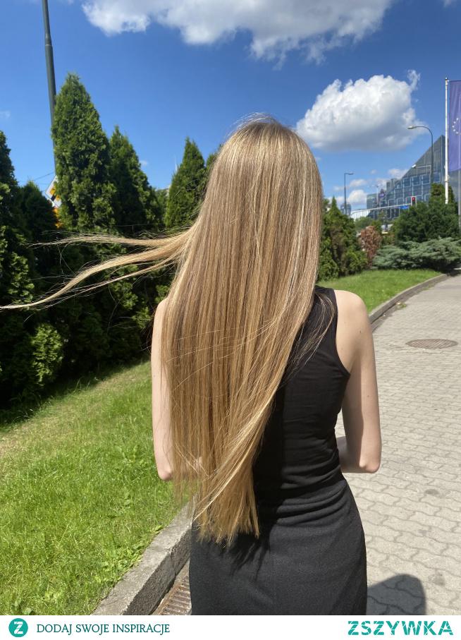 Sombre Tropical na włosach bardzo długich