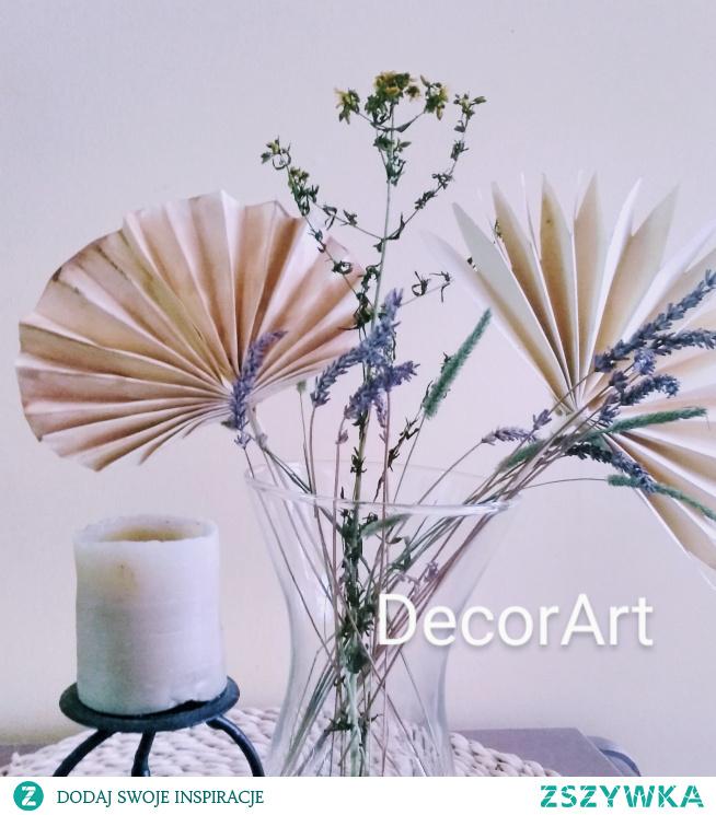 Dekoracja, papierowa imitacja liści palmy