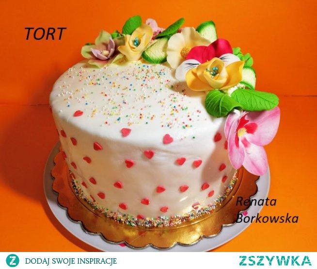Tort , Czterdziesta: rubinowa  rocznica  ślubu .