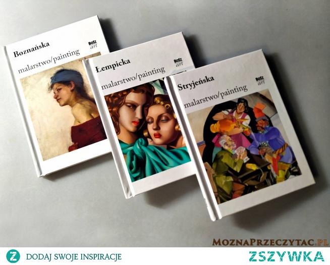 """""""Najsłynniejsze polskie malarki"""" to zestaw trzech mini albumów, z których każdy poświęcony jest innej, wybitnej malarce - Zofii Stryjeńskiej, Oldze Boznańskiej oraz Tamarze Łempickiej. Każda z przedstawionych artystek jest bez wątpienia oryginalna w swoim stylu. Dzięki temu wszystkie uznawane są za wybitne uzdolnione, a ich prace są rozchwytywane na całym świecie przez muzea i domy aukcyjne. Jeśli ktoś lubi obcować ze sztuką, to będzie zachwycony tymi pozycjami. Nie zawiedziecie się."""