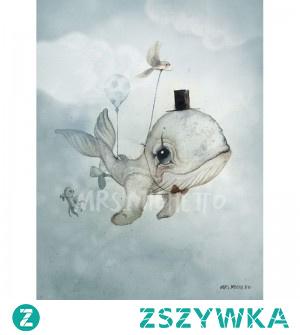 Co można powiesić na ściane u dziecka w pokoju? Możesz wybrać mrs mighetto plakat z wielorybem, słonikiem czy też innym zwierzątkiem. Sprawdź plakaty w sklepie mukaki.