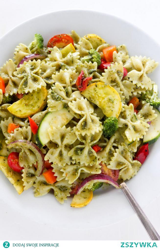 20-Minute Rainbow Veggie Pasta Salad