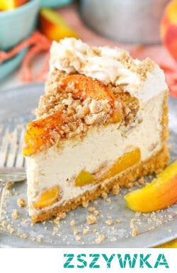 Bourbon Peach Streusel Cheesecake