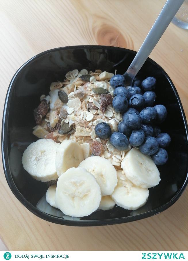 Dziś zacząłam od zdrowego śniadania