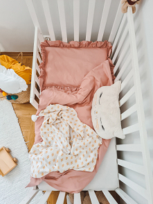 Pościel niemowlęca z falban...