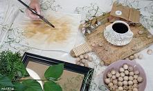 Malowanie tkanin herbatą DIY