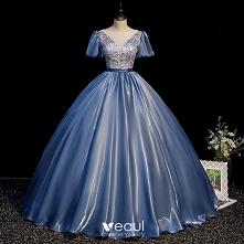 Moda Ciemnoniebieski Cekiny...