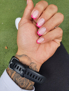 Takie drastyczne cięcie hehe #paznokcie #french 17.09.21