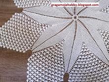 gragamojehobby.blogspot.com     Serweta świąteczna w kształcie gwiazdy.