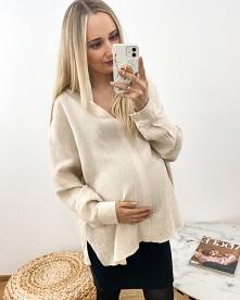 Muślinowa koszula ciążowa. ...