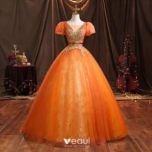 Eleganckie Pomarańczowy Fre...