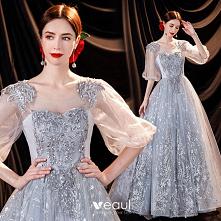 Uroczy Szary Sukienki Na Ba...