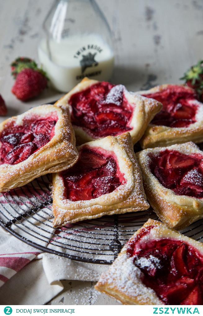 Fresh strawberry and cream cheese danish
