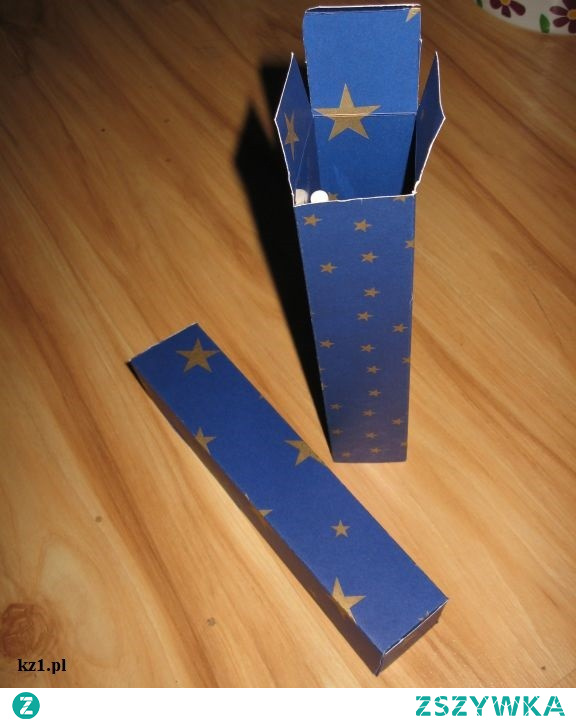 Wąskie pudełko na prezent - jak je zrobić?
