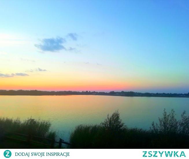 Jesień#jezioro#zachódslonca