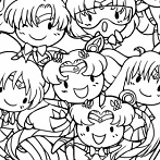 Okładka Sailor Moon -zestawienia postaci