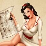 Okładka pin up girl - lata 50