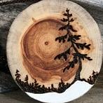 Okładka wypalane w drewnie