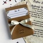 Okładka Materiałowe zaproszenia ślubne
