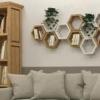 Okładka Półki z litego drewna, dekoracje ścienne