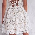 Okładka Sukienki koronkowe białe