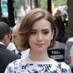 Okładka Lily Collins- style, outfits, hairstyle