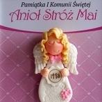 Okładka Pamiątki I Komunii Św. - aniołki dla dziewczynek